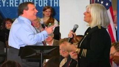 Durante reunião em Nova Jersey, Chris Christie recebe cantada de admiradora