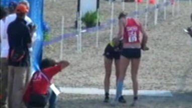 Yane Marques, 2ª colocada, e Priscila Oliveira, 9ª, sofreram com o calor durante a prova no Club Hípica