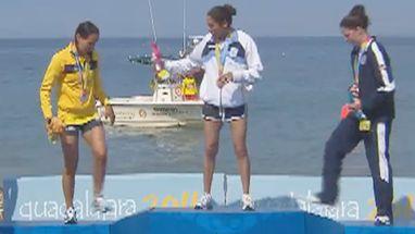 Cecilia Biagioli foi a mais rápida seguida pela brasileira Poliana Okimoto e a americana Cristine Jenning