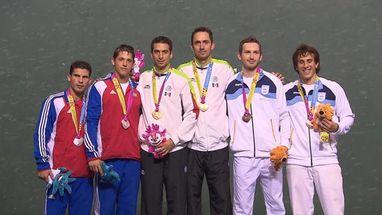 A dupla Rodriguez/Rodriguez ganhou de 2 a 0 contra Alonso/Arocha (CUB); o bronze foi para (ARG)