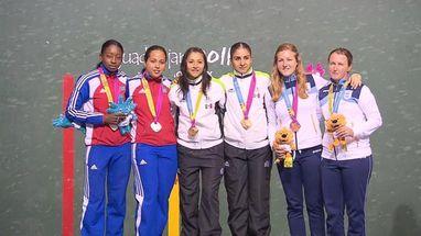 A dupla Castillo/Hernandez ganhou por 2 a 0 contra Lima/Medina (CUB); bronze foi para (ARG)