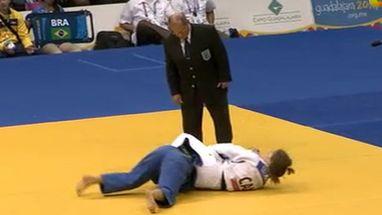 Katherine Campos leva ippon de canadense Stéfanie Tremblay e perde a medalha de bronze