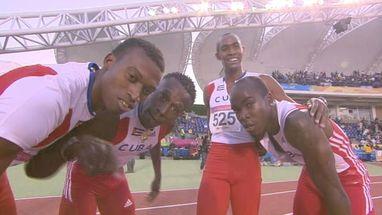 Medalha veio na prova do revezamento 4 x 400 masculino; foi a décima oitava dourada do país na modalidade