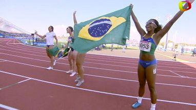 Quarteto brasileiro fica com primeiro lugar; norte-americanas e colombianas completaram o pódio