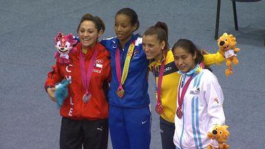 Ana Villanueva levou o ouro; a prata foi para Gabriela Bruna (CHI) e o bronze para Jéssica Candido (BRA) e Cheili González (GUA)