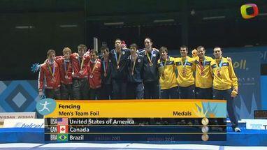 A medalha de prata foi para o Canadá e o broze para o Brasil